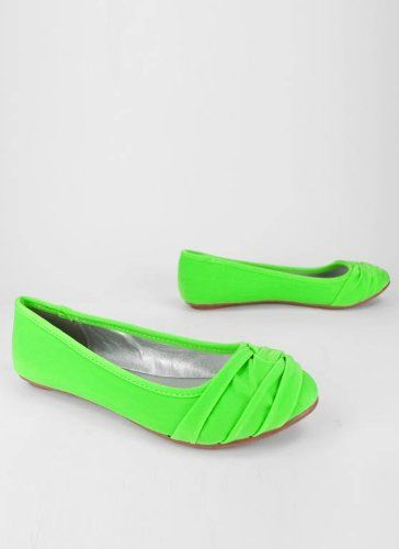 These come in neon green, pink, and yellow. No idea what I would ever wear them with. lol