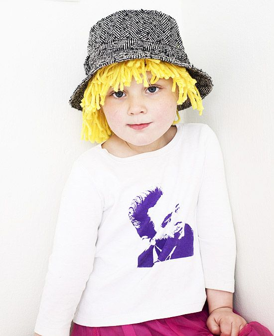 Cute hand made hat-wigs!