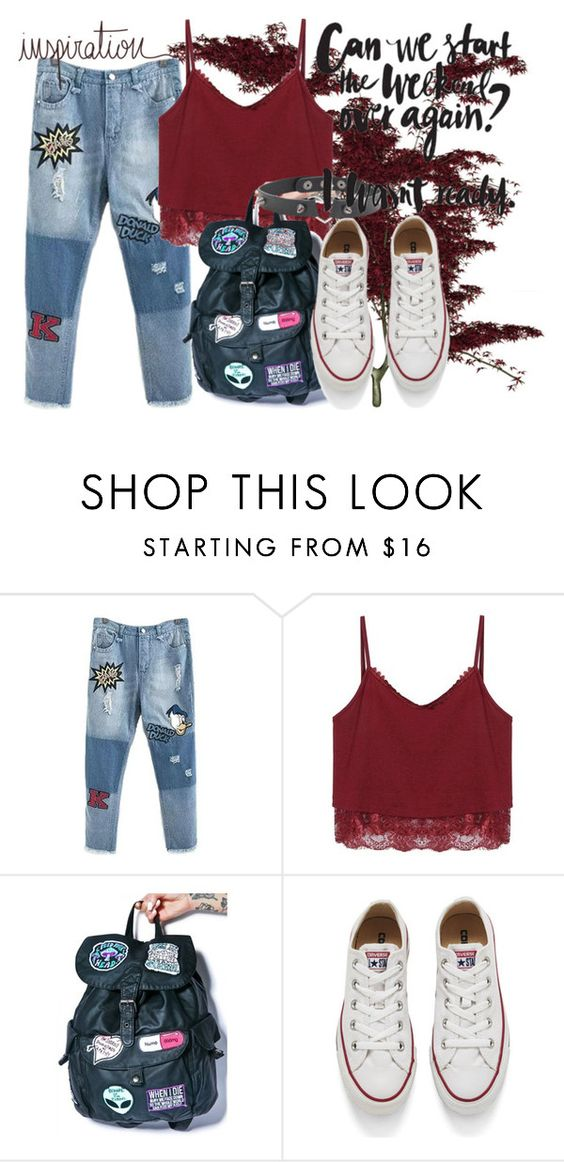 """""""months"""" by personalnightmare ❤ liked on Polyvore featuring Disturbia, Converse, women's clothing, women's fashion, women, female, woman, misses and juniors"""