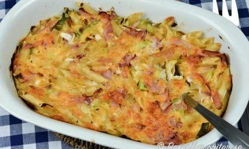 Pastalada Eller Pastagratang Med Skinka Recept Skinka Recept
