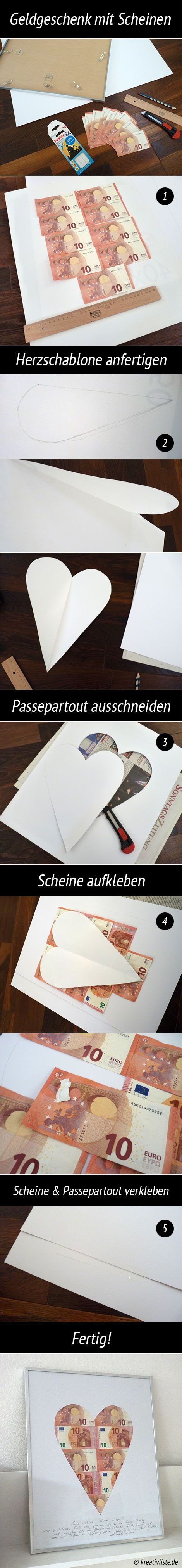Geldgeschenke originell verpacken …  Pinteres…