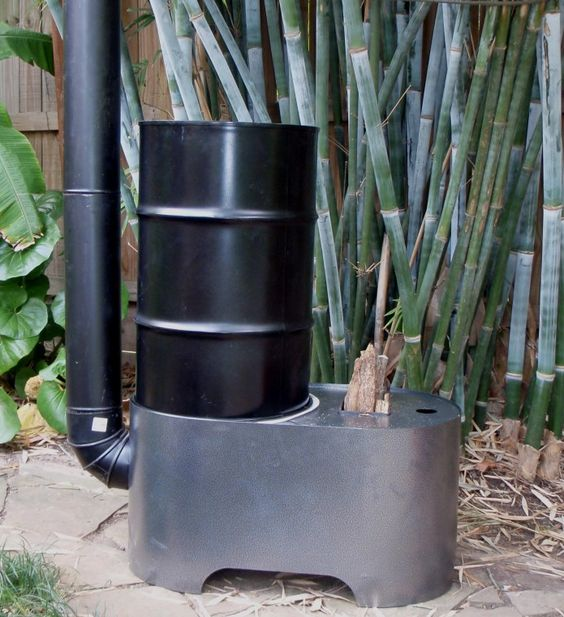 Rocket heater wood stoves and rockets on pinterest for Portable rocket stove