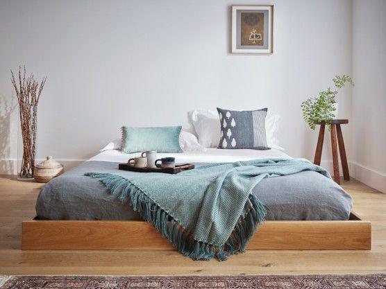 Low Enkel Platform Bed No Headboard Low Bed Low Loft Beds Low Wooden Bed Frame