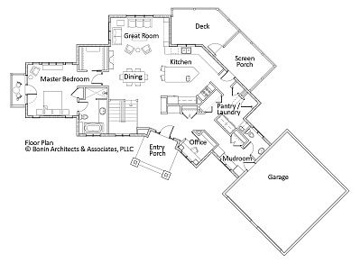 House plans post and beam and floors on pinterest for Post and beam floor plans