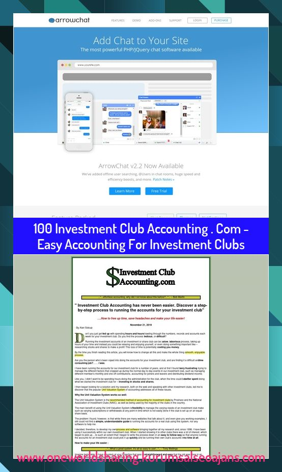 100 Investment Club Accounting Com Easy Accounting For Investment Clubs 100 Investment Club Accounting Com Easy Accounting For Investment Clubs En 2020