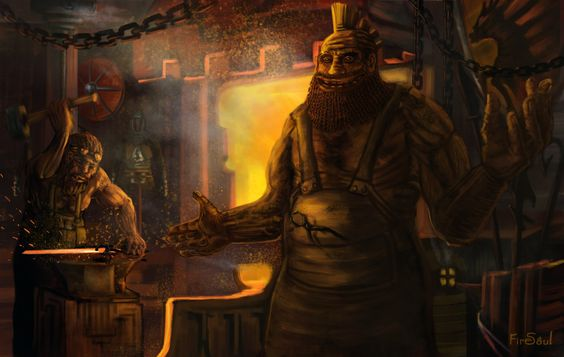 Dwarf Forge, Fire Soul on ArtStation at https://www.artstation.com/artwork/l9rzk
