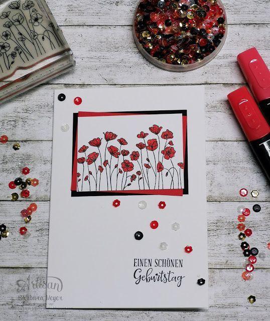 Mohnblutenzauber Painted Poppies Stampin Stampin Up Painted Poppies Mohnblutenzauber In 2020 Blumen Basteln Aus Papier Aufpragungen Blumenkarten
