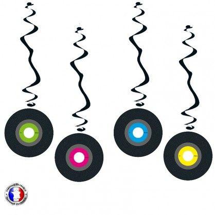 Suspensions d coratives th me disque vinyl ann es 60 80 for Decoration annee 90