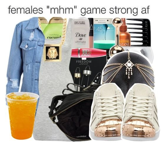 """""""...Nothing..."""" by trill-queen478 ❤ liked on Polyvore featuring Organix, Samsung, NARS Cosmetics, Mizani, Topshop, Maybelline, mbyM, MAC Cosmetics, River Island and adidas"""