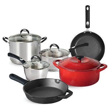 Tramontina 10 Piece Kitchen Essentials Multi Material Cookware Set