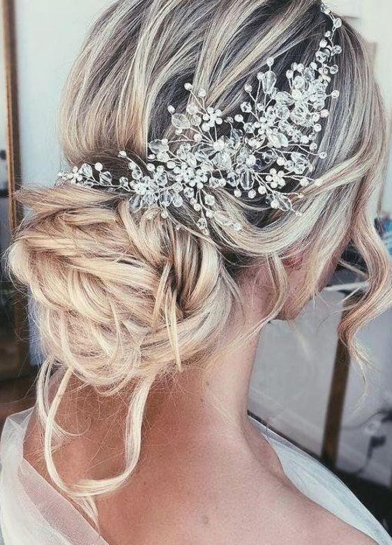 Wedding Hair Accessories Crystal Bridal Hair Piece Bridal Hair Vine Rose Gold Wedding Headpiece Brid Di 2020