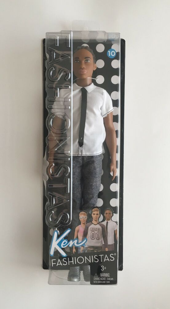 Fashionistas Barbie Ken Doll Checked Style Dirty Blond Discontinued   2016 New