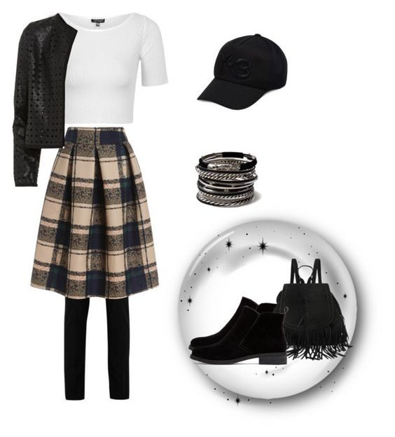 """""""Bez naslova #16"""" by korchie ❤ liked on Polyvore featuring Yves Saint Laurent, Topshop, Maglie I Blues, Y-3, Lucky Brand, Amrita Singh, women's clothing, women, female and woman"""