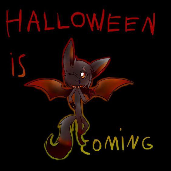Halloween is coming on bat wings...