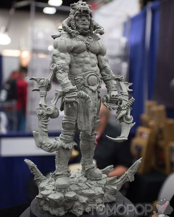 Great shot of our piece, The Modern Barbarian, by our friends at Tomopop. Sculpted in Super Sculpey Firm. #tomopop #shiflettbrothers #shiflettbros #sculpting #sculpture #figuresculpting #figuresculpture