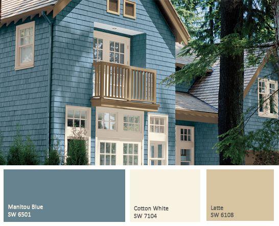 Cottage Exterior Paint Colors And Colors On Pinterest