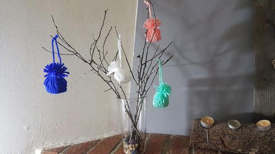 Gorritos de lana para decorar nuestro árbol de Navidad