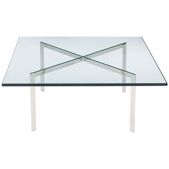 Barcelona Coffee Table | Mies van der Rohe | Reproduction | The Barcelona Coffee Table was designed in 1930 by the famed visionary, Mies van der Rohe. It features his characteristic emphasis on stylized structure.
