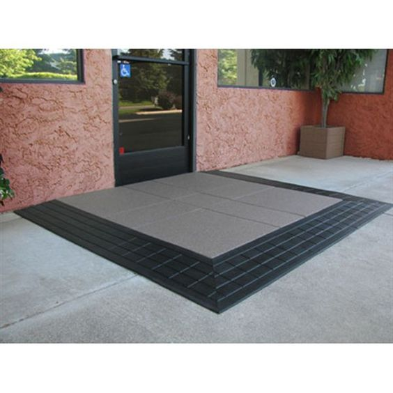 Wheelchair Access Front Door: SafePath's EntryLevel™ Landings Provide An ADA Compliant