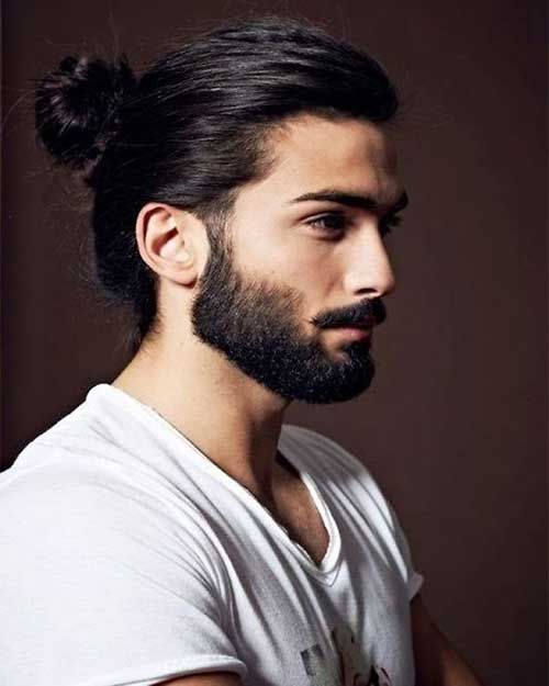 Ponytail Hairstyles For Long Hair Men Hairstylo Long Hair Styles Men Mens Ponytail Hairstyles Man Ponytail
