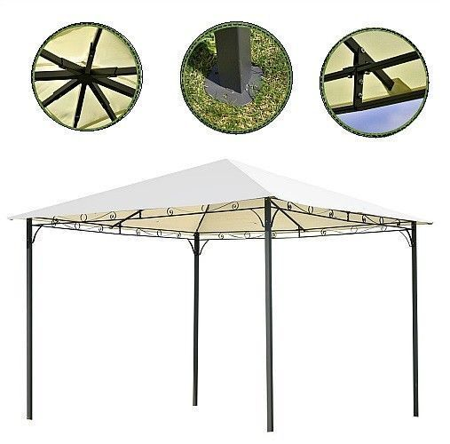 10 X10 Patio Gazebo Pavilion Metal Frame Outdoor Party Marquee Sun Shelter Tent 10x10 Frame Gazebo Marquee Metal O In 2020 Patio Gazebo Shelter Tent Tent Sale