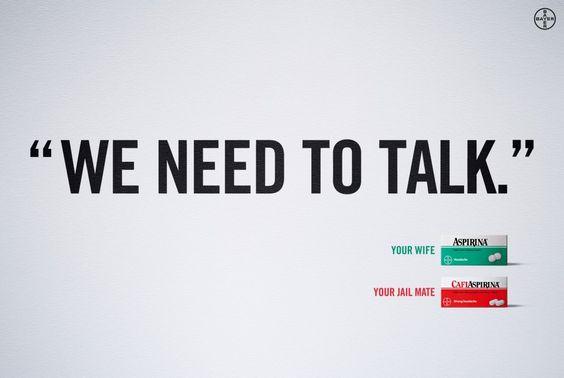 Cafiaspirin | BBDO | We need to talk | WE LOVE AD