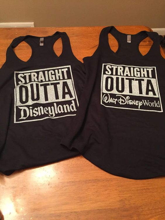 Love the Disney parks? Show a fun love for the parks with the Straight Outta Disney shirt. Choose from your favorite park. On a t-shirt or