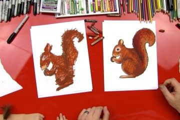 How to draw a squirrel!