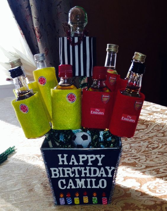 21st Birthday Gift Baskets For Him : Birthday gift for him st gifts and soccer