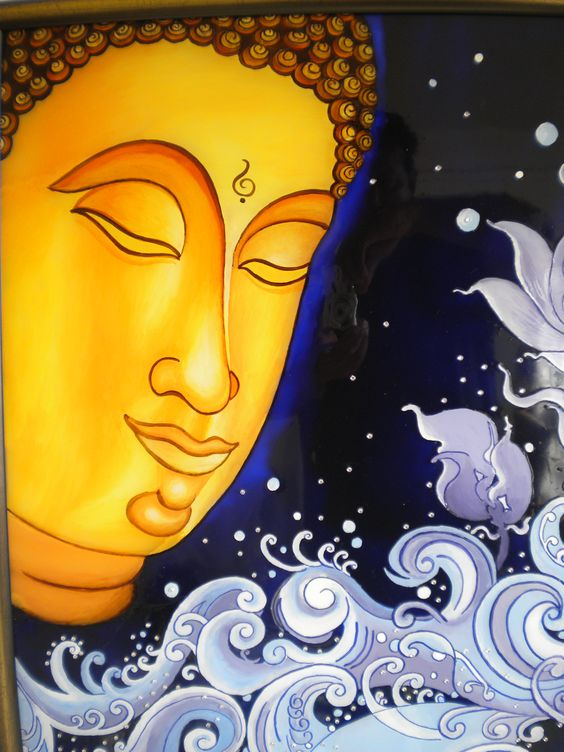 Pinterest the world s catalogue of ideas for Buddha mural art