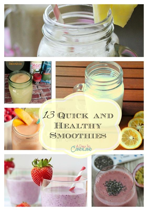 13 quick and healthy smoothies