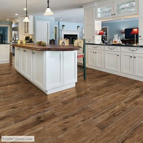 Super Cool Option Instead Of Putting Wood On A Kitchen Floor