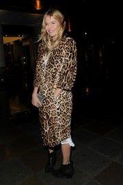 Sienna Miller Fur Coat