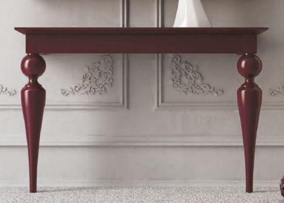 Mesa de dos patas torneadas en color burdeos mesas pinterest colores y mesas - Patas conicas para mesas ...
