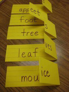 teaching irregular plurals