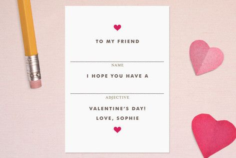 sweet valentines | via minted by kelli hall