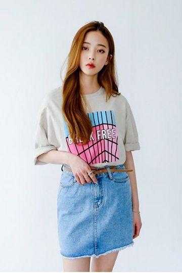 Brick Cube Tee | Korean Fashion: