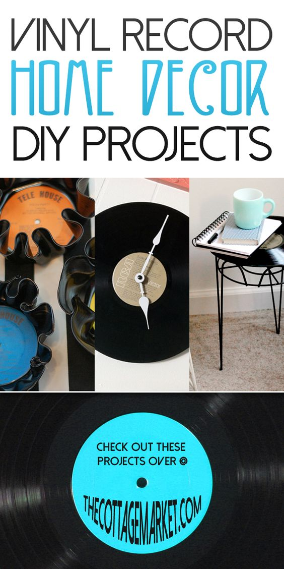 vinyl record home decor diy projects the cottage market