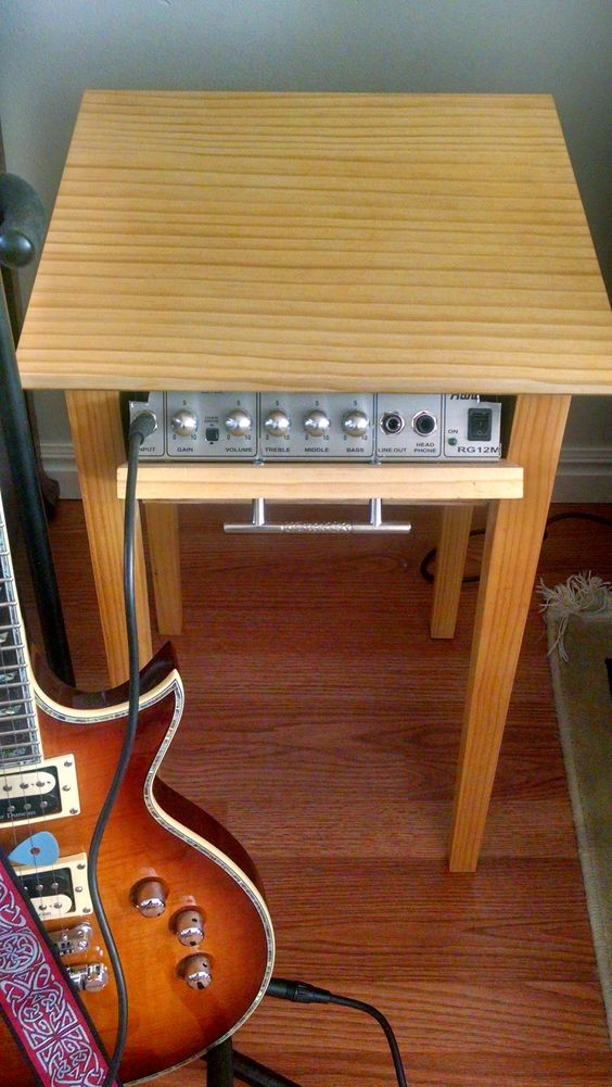 Guitar Practice Amp In An End Table