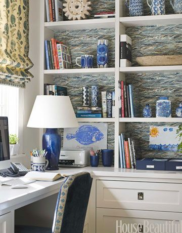 For Dumpster Dive Cabinet?: Backed Bookcase, Built In, Workspace, Decorating Ideas, Home Office