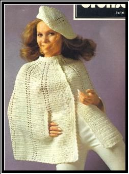 Knitting Pattern Cape Arm Slits : Best ideas about Cape Crochet, To Crochet and Crochet Coats on Pinterest Pa...
