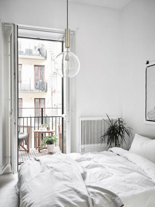 Aesthetic Minimalism Scandinavian Design Bedroom White Rooms