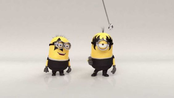 """Check Out This Clip Of The #Minions Performing KISS's """"Rock and Roll All Nite."""""""