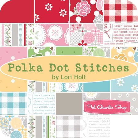 Polka Dot Stitches Yardage Lori Holt of Bee in my Bonnet for Riley Blake Designs