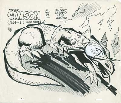 The Giant Lizard of the Volcano - Samson - Alex Toth