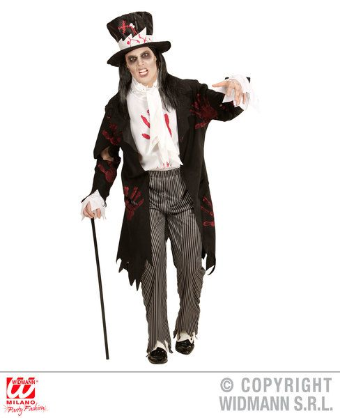 Deluxe Day of the Dead Devil Mens Costume Halloween Fancy Dress Oufit M-XL
