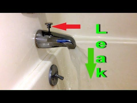 replace leaking tub spout diverter