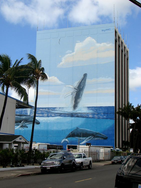 Wyland painting near Honolulu International Airport