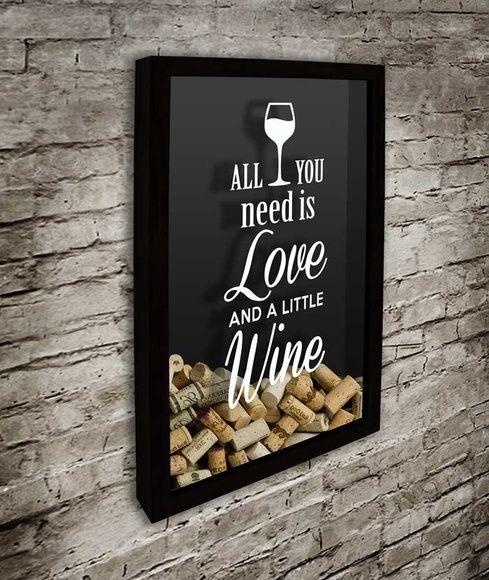 Quadro p/ Rolhas de Vinho- Love2 32x52cm