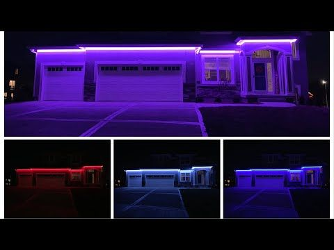 Diy High Voltage 110v Rgb Led Strip Permanent Christmas Holiday Accent Lights Installed Youtub Outdoor Christmas Lights Christmas Lights Led Christmas Lights